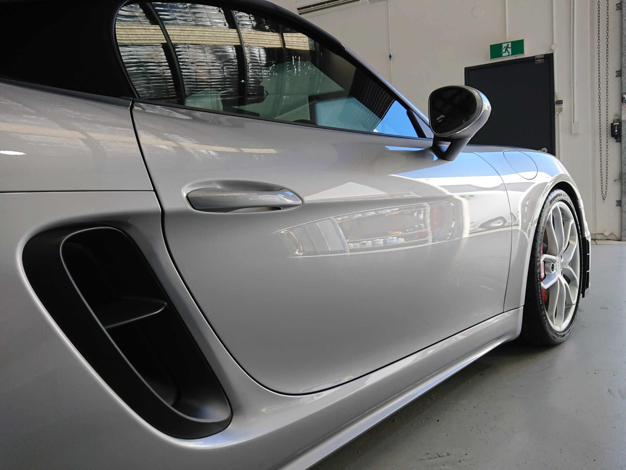 Porsche 718 Spyder protected with paint protection film (PPF) and 3M Car Window Tinting